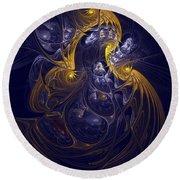 Goddess Of Healing Energy Round Beach Towel