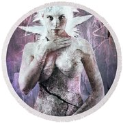 Goddess Of The Water Oh My Goddess Edition Round Beach Towel