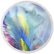 Goddess Of Thought Round Beach Towel