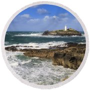 Godrevy Lighthouse - 5 Round Beach Towel