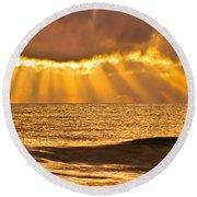 God's Eyelashes Round Beach Towel