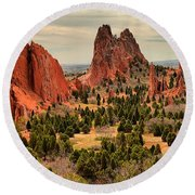 Gods Garden In Colorado Round Beach Towel