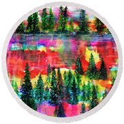 God's Kaleidoscope Round Beach Towel