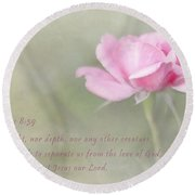 God's Redeeming Love Round Beach Towel