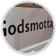 Godsmottagning. Stockholm 2014 Round Beach Towel