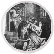 Goethe: Doctor Faust Round Beach Towel