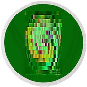 Going Green Geometric Abstractions Colorful Creations Designer Phone Cases 123 Carole Spandau Round Beach Towel