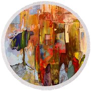 Going To The Medina In Morocco Round Beach Towel