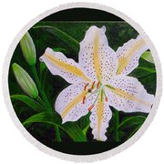 Gold Band Lily Round Beach Towel