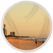 Gold Coast Beach Round Beach Towel