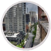 Gold Coast Rooftops Round Beach Towel