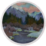 Gold Creek Snoqualmie Pass Round Beach Towel