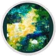 Gold Fish II Round Beach Towel