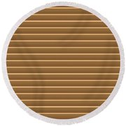 Gold Golden Strips Stripes 36x12 Horizontal Landscape Energy Graphics Background Designs  And Color  Round Beach Towel
