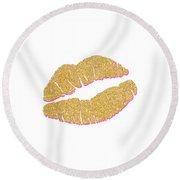 Gold Kiss Round Beach Towel