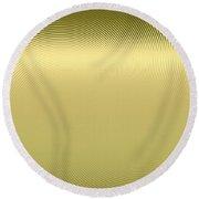 Gold Metallic 12 Round Beach Towel