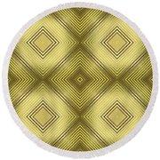 Gold Metallic 14 Round Beach Towel