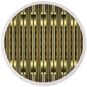 Gold Metallic 18 Round Beach Towel