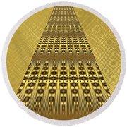 Gold Metallic 9 Round Beach Towel