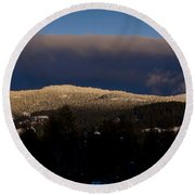 Gold Mountain Round Beach Towel