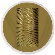 Gold Ridges Round Beach Towel