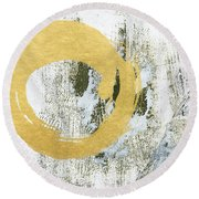Gold Rush - Abstract Art Round Beach Towel