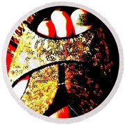 Gold Shoe Round Beach Towel