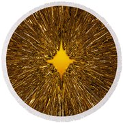 Gold Star Round Beach Towel