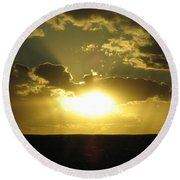 Gold Sunset Round Beach Towel