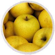 Golden Apples Round Beach Towel
