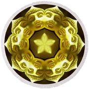 Golden Buddha Star Round Beach Towel