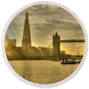 Golden City Round Beach Towel