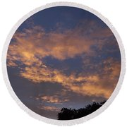 Golden Cloud Sunset Round Beach Towel