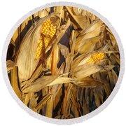 Golden Corn Round Beach Towel