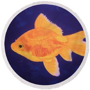 Golden Fish Round Beach Towel