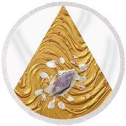 Golden Flow Creator Round Beach Towel