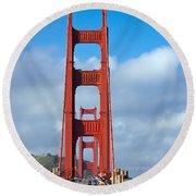 Golden Gate Bridge Round Beach Towel by Adam Romanowicz