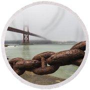 Golden Gate Bridge Chain Round Beach Towel