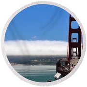 Golden Gate Bridge Looking South Round Beach Towel