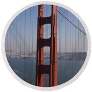 Golden Gate Bridge San Francisco Round Beach Towel