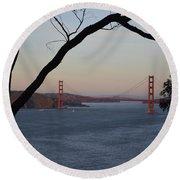 Golden Gate Bridge - San Francisco California Round Beach Towel