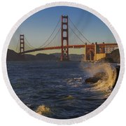 Golden Gate Bridge Sunset Study 2 Round Beach Towel