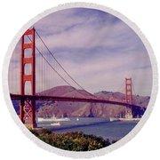 Golden Gate San Francisco Round Beach Towel