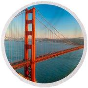Golden Gate - San Francisco Round Beach Towel