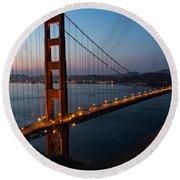 Golden Gate Sunrise Round Beach Towel