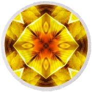 Golden Harmony - 3 Round Beach Towel