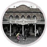 Golden Horseshoe Frontierland Disneyland Sc Round Beach Towel