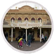 Golden Horseshoe Frontierland Disneyland Round Beach Towel