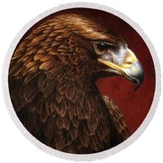 Golden Look Golden Eagle Round Beach Towel