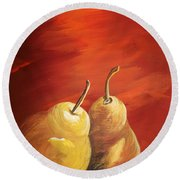 Golden Pear's Round Beach Towel